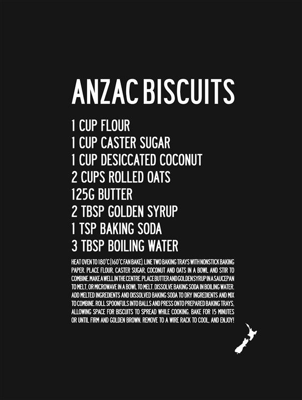 Kiwi Anzac Biscuit Recipe