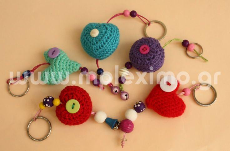 crochet stuffed motifs keyrings