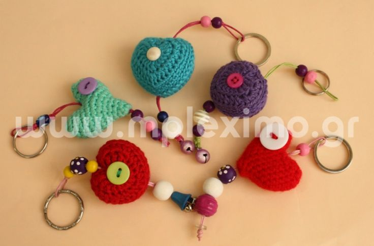 crochet stuffed motifs keyrings