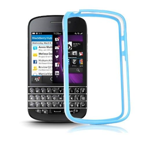 ClearBumper (Light Blue) Blackberry Q10 Bumper