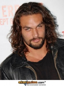 Jason Momoa (plays Drogo on Game of Thrones) is a sexy beast. Check out the sexy eyebrow scar! Swoon.