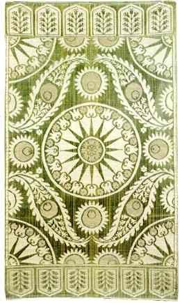 Silk and Metal Thread Ottoman Voided Yastik