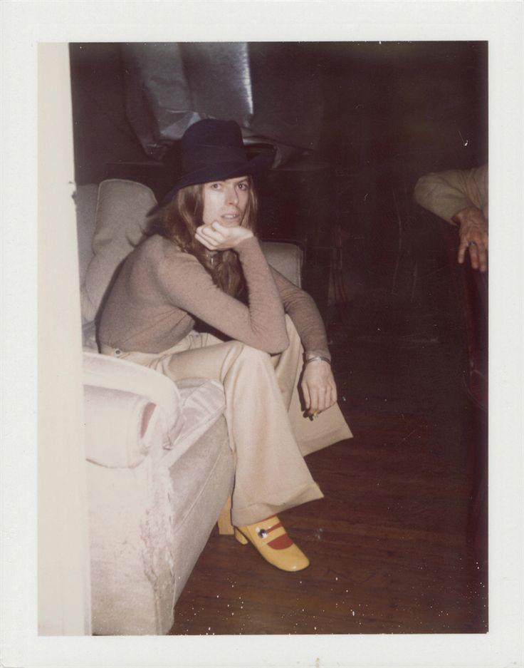 Andy Warhol(American 1928-1987)David Bowie 1971.Unique Polaroid mounted on board
