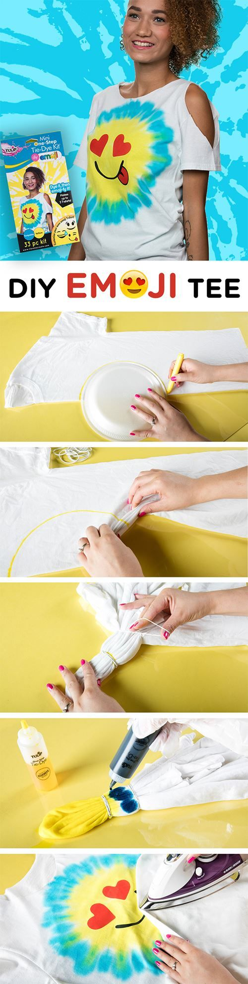 DIY Emoji t-shirt with Tulip One-Step Tie Dye