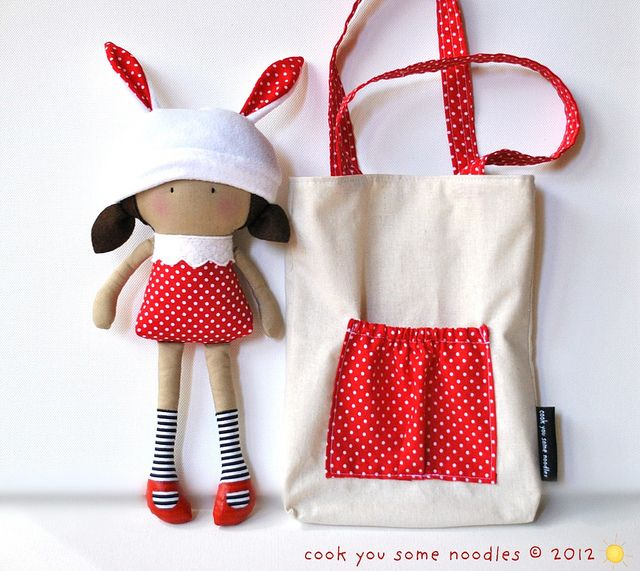 doll & bag / by Cook You Some Noodles, via Flickr