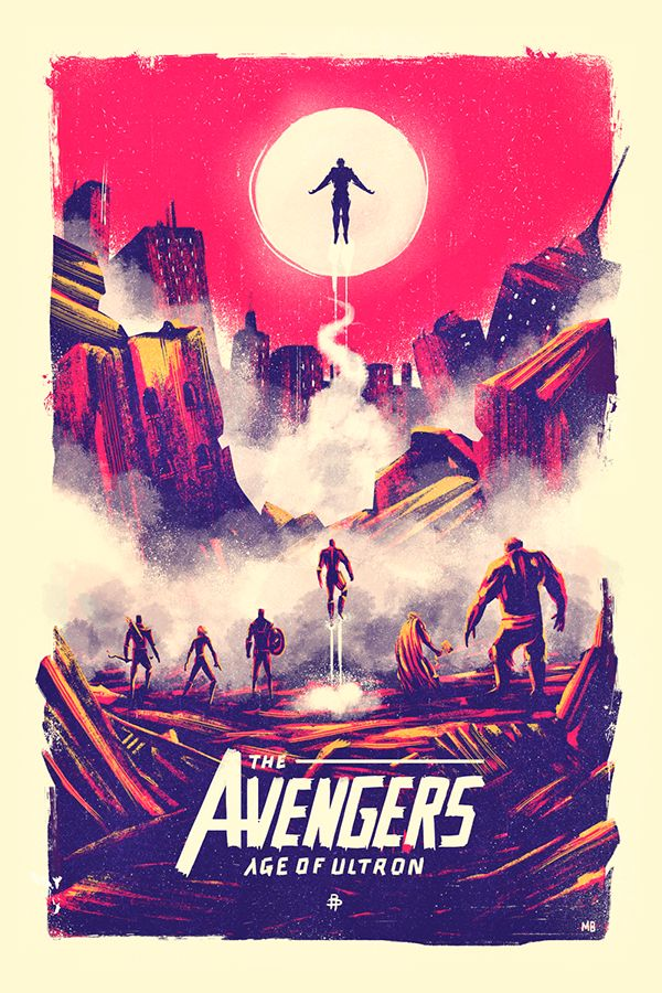 The Avengers : Age of Ultron // Design & Illustration by Marie Bergeron
