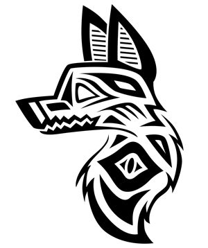 41 best native american wolf symbols tattoos images on pinterest native american inspired wolf head tattoo by anewchapter on deviantart ccuart Images