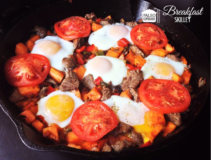 Paleo One-Pan Breakfast Skillet Recipe- www.PaleoCupboard ...