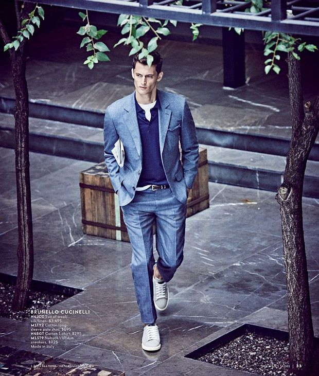 Garrett Neff shot in Mexico City by Matthew Brookes for the Neiman Marcus Spring 2017 Men's Catalogue
