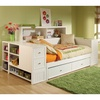 Cody Daybed Trundle & End Chest Storage Hillsdale Furniture | Wooden Daybed Platform Bed Storage Drawer Trundle End Chests Roll-out