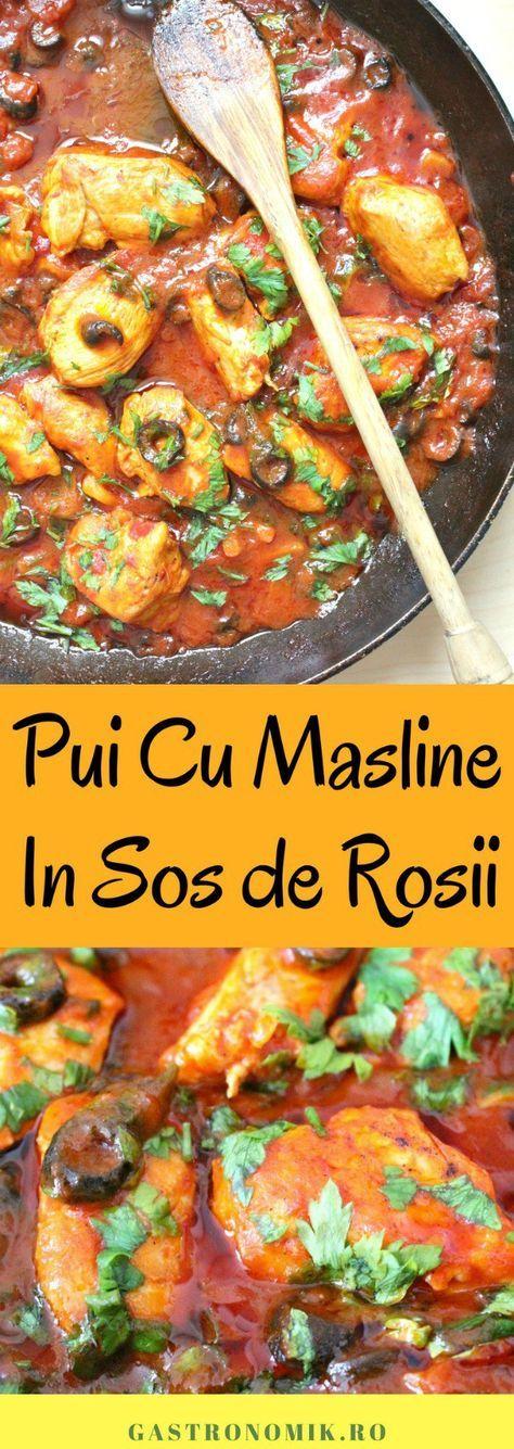 PUI CU MASLINE SI SOS DE ROSII - Ai nevoie de o rețetă simplă, rapidă și savuroasă? Încearcă acest pui cu masline si sos de rosii pentru o mâncare delicioasă, inspirată din bucataria italiana!