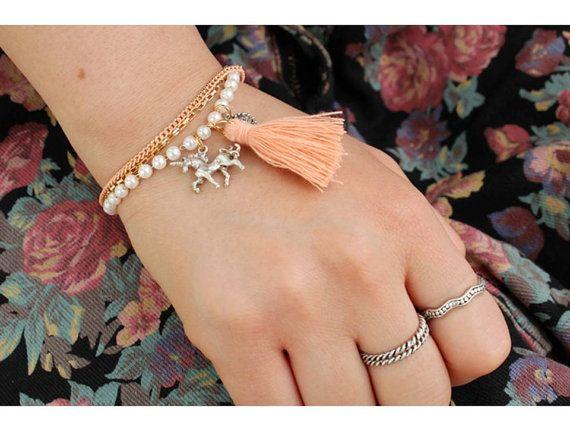 Unicon Tassel Bracelet by Myfunny on Etsy, $18.05