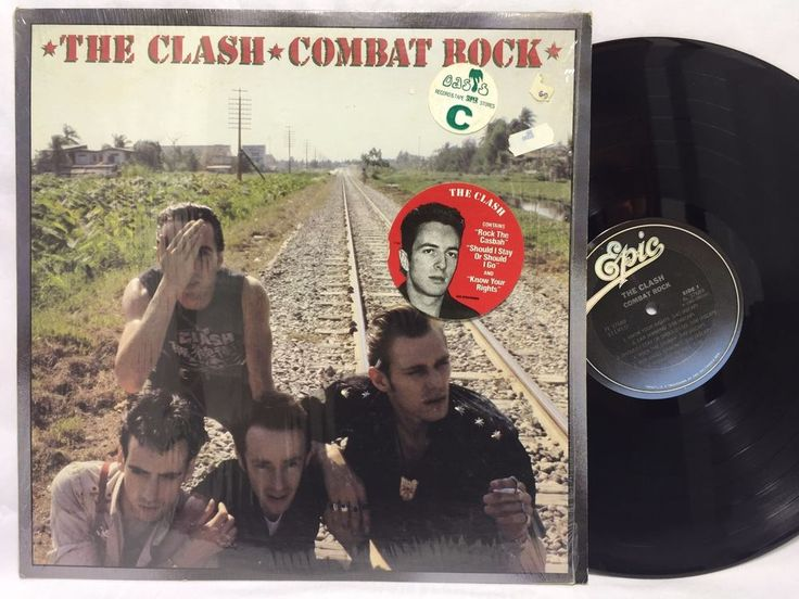 The Clash Combat Rock in-shrink w/ Hype Sticker Epic Original LP #Vinyl Record