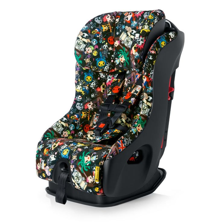 The new car seat. Clek Fllo 2015 Convertible Child Seat, Tokidoki Rebel