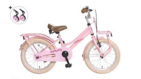 Popal Cooper - Kinderfiets - Meisjes - 16 inch - Roze