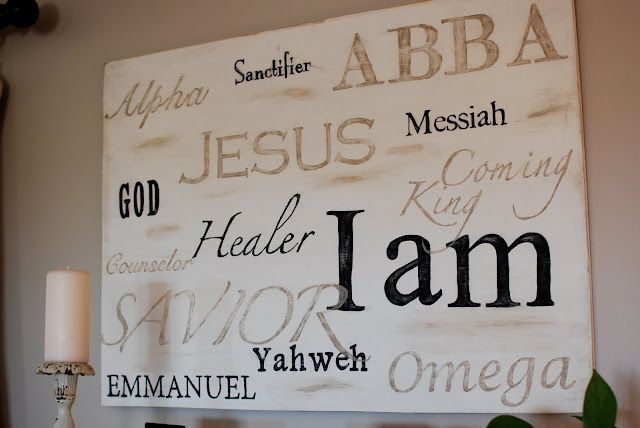Love this!: Wall Art, Idea, Living Rooms, Names Of God, Woods Signs, Diy Gifts, Canvas, House, Cricut Projects