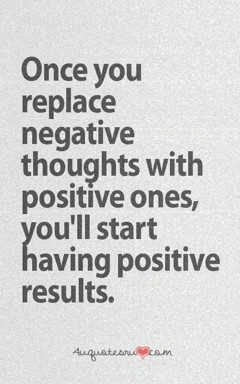 Positive thoughts yield positive results