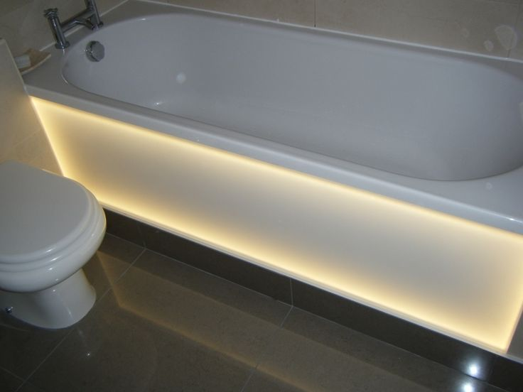 Backlit frosted opal acrylic bath panel. Customer Project Photo ...