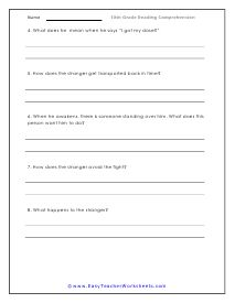 10th Grade Reading Comprehension Worksheets in 2020 ...