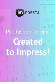 Welcome #ImPresta - New #PrestaShop Template That Delivers Customer Delight in Ways That No Competitor Can Match. 😋 📌 What`s Inside? 6 Themes for Every Purpose, 3 Exclusive Product Layouts, 6 Header Layouts, 6 Footer Layouts & Tons of Features for Making a Stunning Modern #Website. It`s the First Theme Ever Running on Revamped Version of TM Mega Layout! 💰 Buy It Now & Recharge Your #Business with Monsters - https://www.templatemonster.com/prestashop-themes/impresta-prestasho