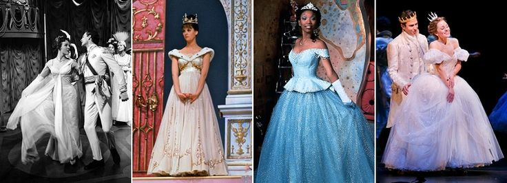 Today's blog post: Comparing costumes from the four versions of Rodgers and Hammerstein's Cinderella.