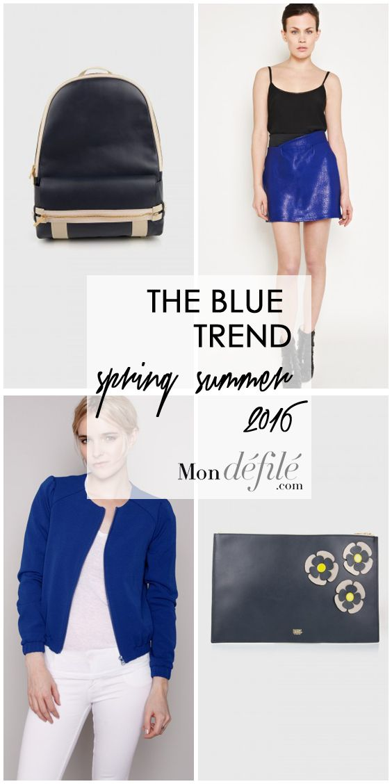 But how can we wear blue this season? Our hearts incline between electric blue and dark blue…