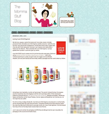 Blog Review: The Momma Stuff Blog