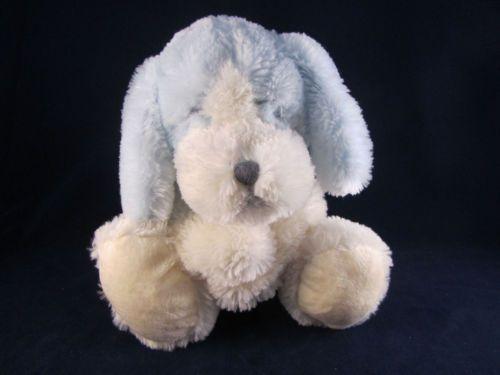Floppy Blue Plush Dog With Orange Ears