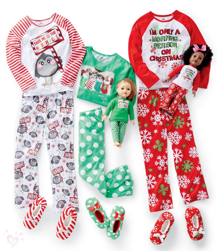 Ready-to-give matching pj sets for you and your doll.