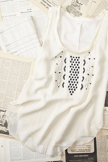 Mika Embroidered Shell