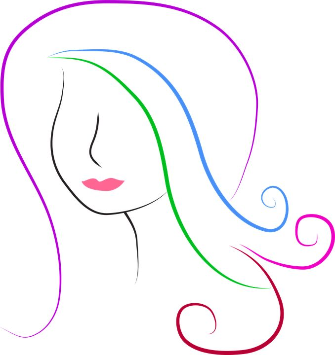 Silhouette, Hair, Woman, Lady, Long Hair, Drawing
