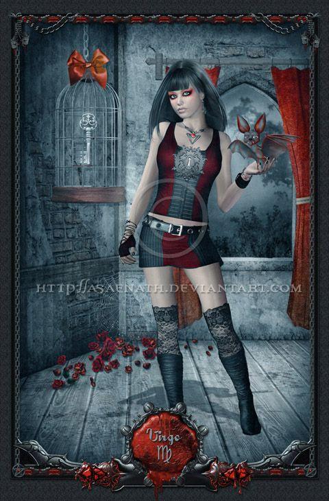 gothic zodiac  virgo by  unholyvault on deviantart