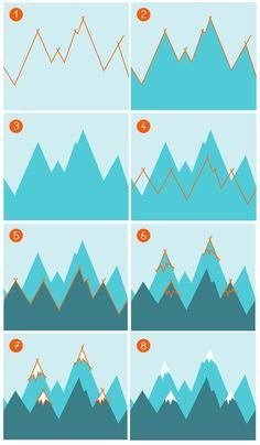 Walkthrough: Berge malen für Babyzimmer