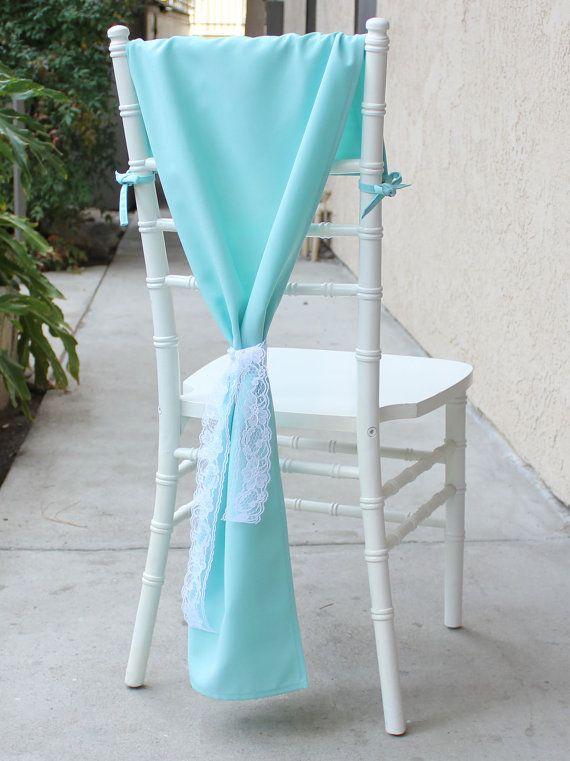 Chiavari Chair Hoods Aqua Spa, Chair Drapes, Chair Backs for Tiffany Chairs and Tiffany Weddings | Wedding Chair Covers, Table Decor
