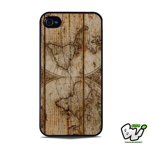 Old World Map Wood iPhone 5 | iPhone 5S Case