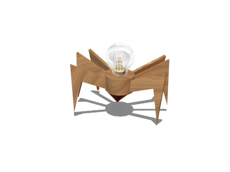 a 3D model created with VECTARY - the free online 3D modeling tool #3Dprinting #lamp #interiordesign #diy