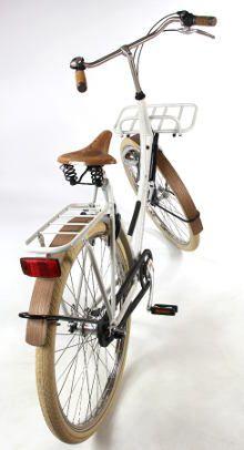 Vélo hollandais Amsterdamer Euphoria<br>Sellerie cuir & garde-boue en chêne
