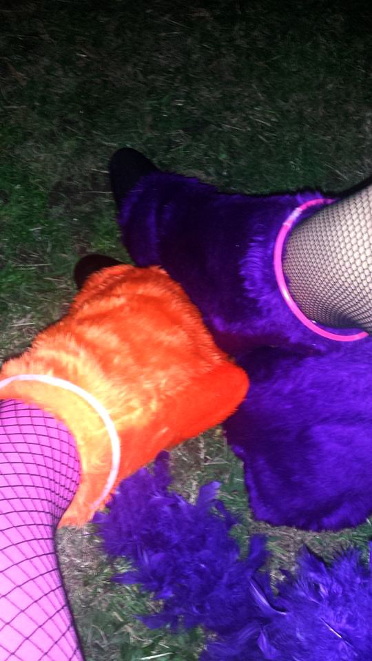 UV reactive legwarmers! | Black Light Party | Cosmic Events