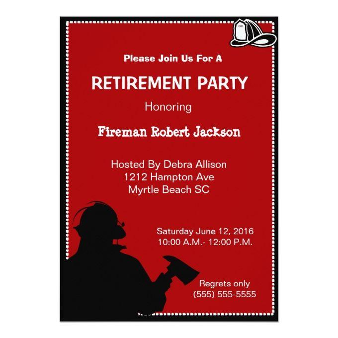 ideas for retirement invitations