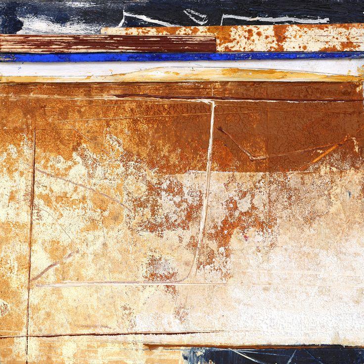 olio su tavola con inserti polimaterici, 20x20cm