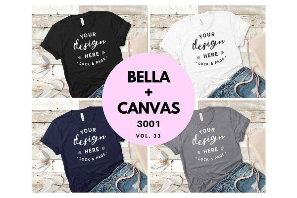 Download Bella Canvas 3001 Mockup Bundle V33 Psd Mockup Free Mockups Psd Design Mockup Free Tshirt Mockup Mockup