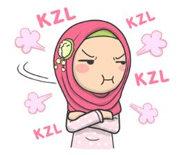 Flower Hijab : Daily Talk - Creators' Stickers