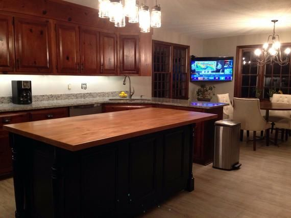 6 ft kitchen island with soild wood top and custom color made in usa black kitchen island on kitchen island ideas black id=96285