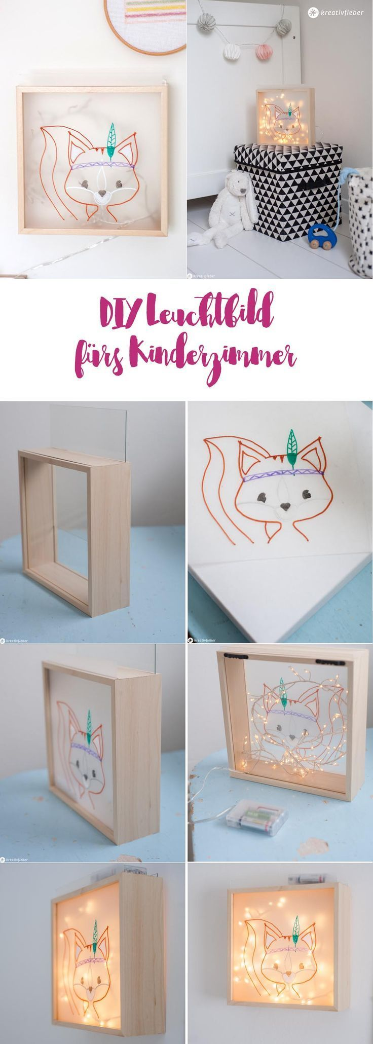 DIY lighting picture for the children's room