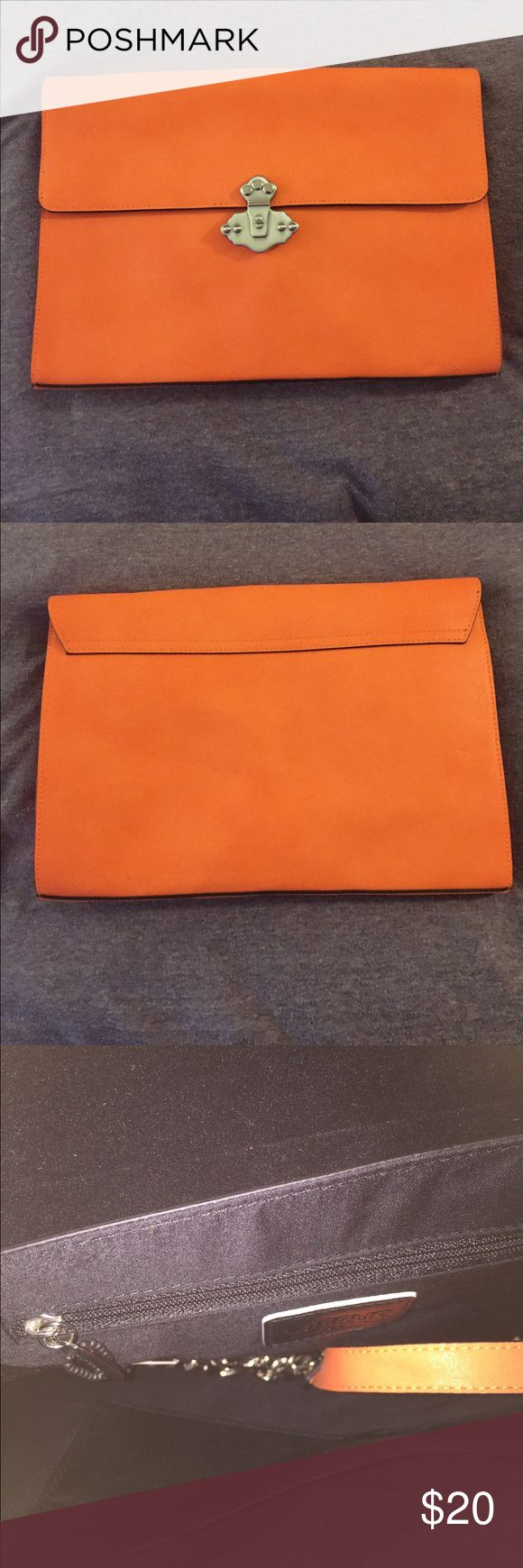 Neon orange clutch Clutch neon orange new never used Circus by Sam Edelman Bags Clutches & Wristlets