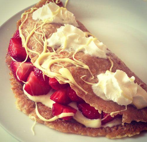 Erdbeer-Crepe #Rezept #Vegan