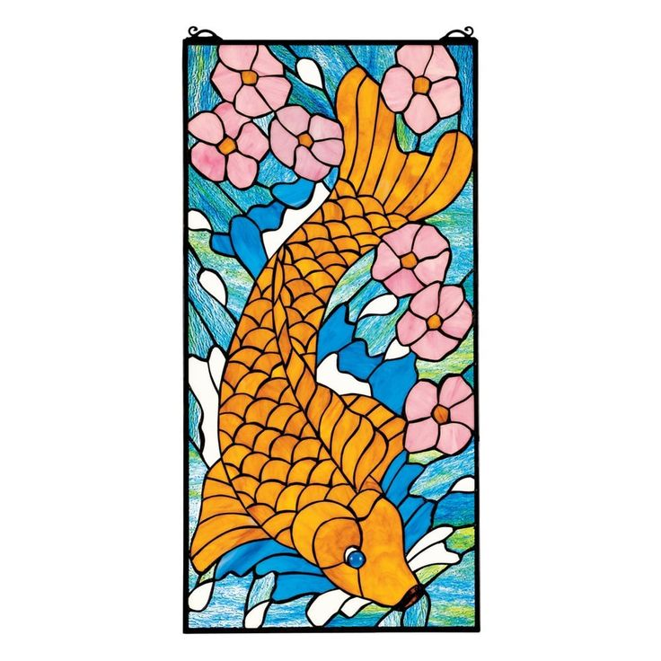 Shop Design Toscano TF27033 Asian Koi Stained Glass Window at The Mine. Browse our stained glass panels, all with free shipping and best price guaranteed.