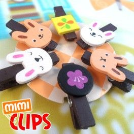 Super kawaii animal shaped clips. These cute animals will put everyone in the right mood at a glance!  Find it on www.Delicute.com