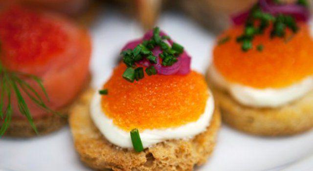 3 Alternative Appetizers: Caviar Bites ( Swedish Cuisine )