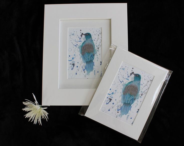 Inked Tui Framed Art Prints